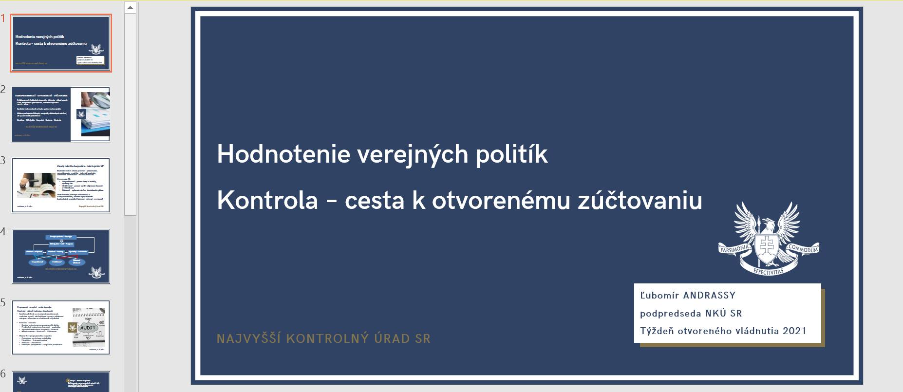Týždeň otvoreného vládnutia